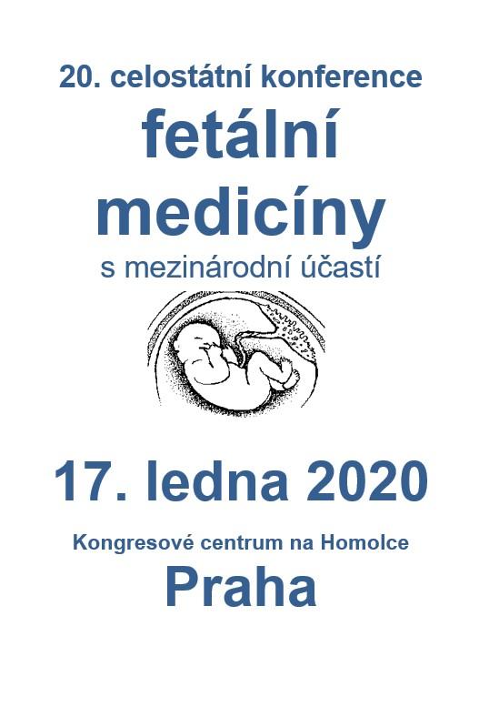 20. konference fetální medicíny, Homolka, 2020